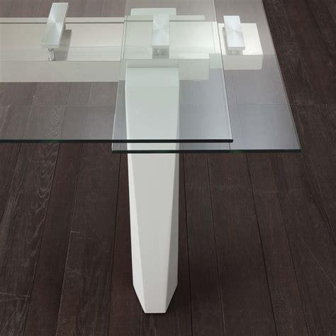 tavoli in vetro e acciaio tavolo da pranzo allungabile in acciaio e vetro holger