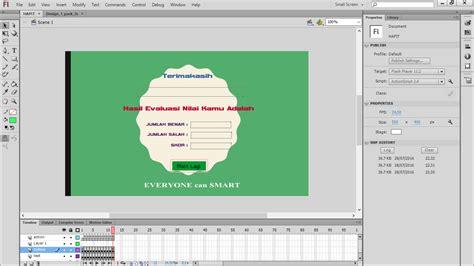membuat quiz dengan adobe flash ingin membuat animasi quiz menarik berikut cara membuat
