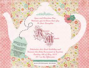 tea invitation template invitation templates