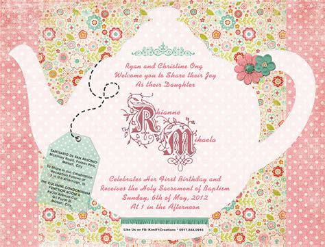 tea party invitation template invitation templates