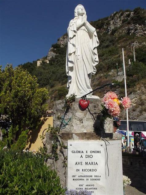 madonna di lourdes positano the amalfi coast italy madonna di lourdes