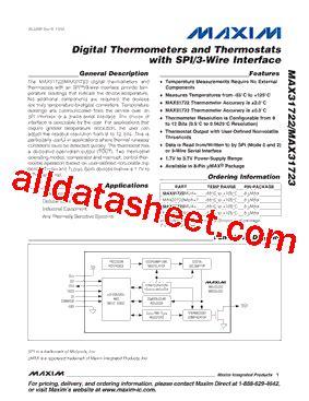 maxim integrated products dublin address max31722 datasheet pdf maxim integrated products