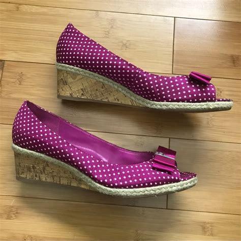 Wedges Pita Polkadot 35 61 etienne aigner shoes etienne aigner polka dot heel wedges from megah s closet on poshmark