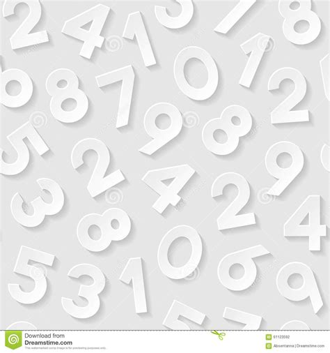 number pattern vector seamless pattern with numbers stock vector image 61123592