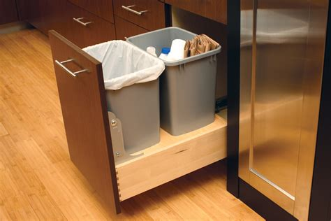 under cabinet trash bins cardinal kitchens baths storage solutions 101