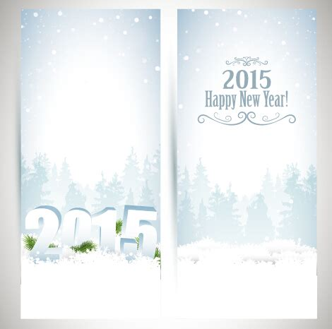 new year banner 2015 2015 new year banner with white snow vector vector