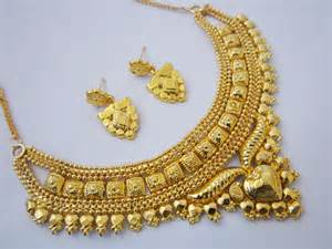 Gold Plated Price One Gram Gold Plated Beautiful Necklace Earrings