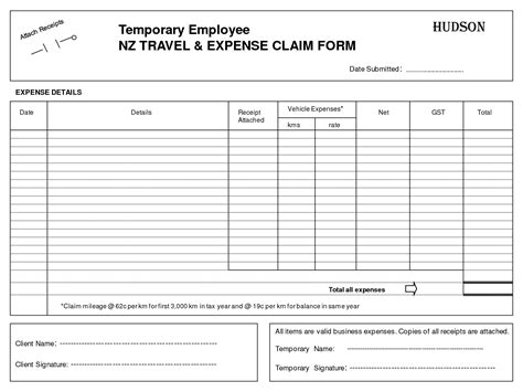 business expenses form template best photos of expenses claim form template excel