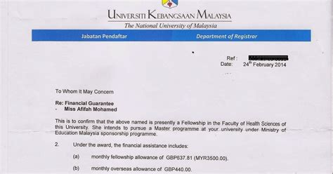 Guarantee Letter Ukm Wonderful Thank You Allah Financial Guarantee Letter Of Introduction
