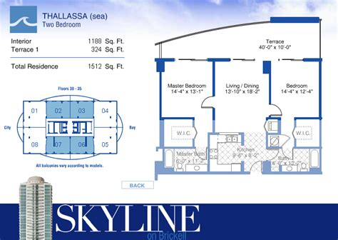 skyline brickell floor plans skyline on brickell condo floor plans