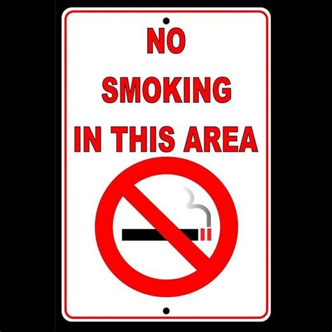 no smoking sign ebay no smoking in this area sign metal made in usa safety