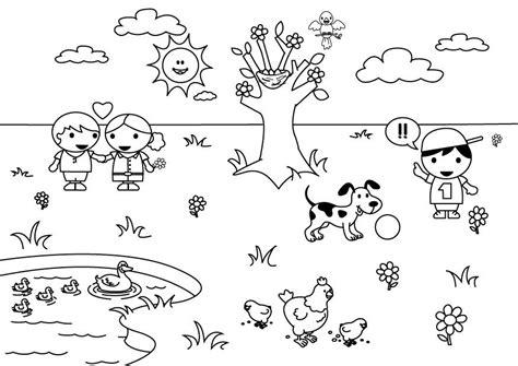 dibujos para colorear primavera dibujo para colorear 2b primavera img 26891