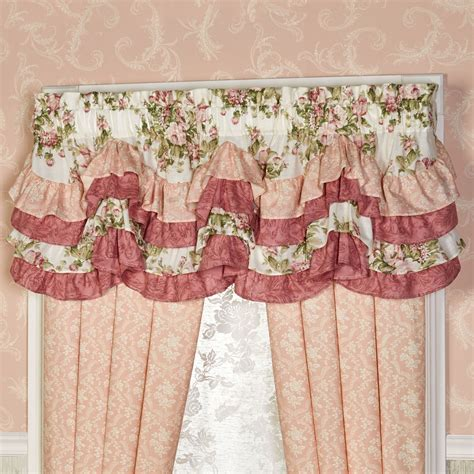 scalloped curtains daydream floral scalloped valance window treatment