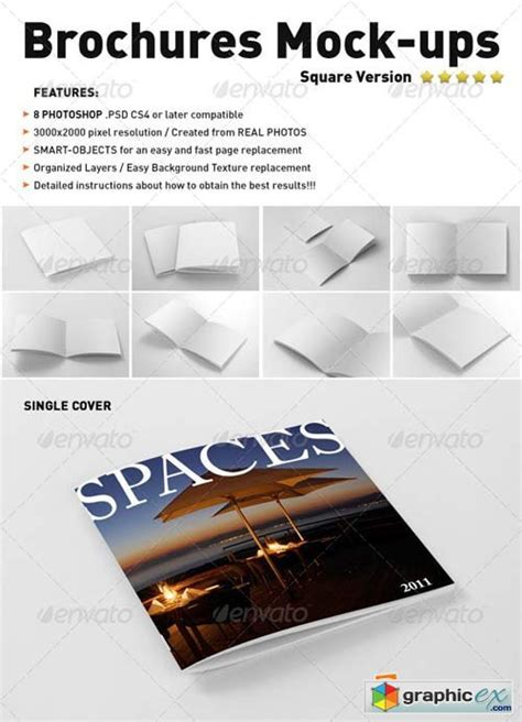 photorealistic square brochure mock up 187 free download