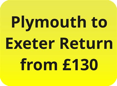 plymouth to exeter plymouth to exeter return airport transfer