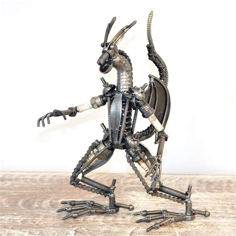 Handmade Sculpture - scrap metal sculpture model recycled handmade