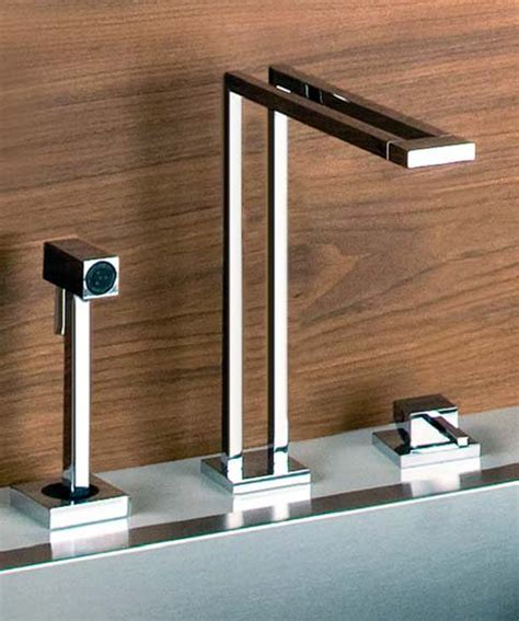 Designer Kitchen Faucets by Square Off Your Kitchen Faucet Remodeling Contractor