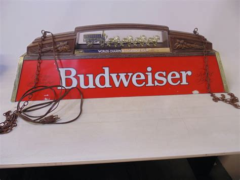 Budweiser Pool Table Lights by 40 034 Clydesdale Budweiser Bar Pool Table Light L