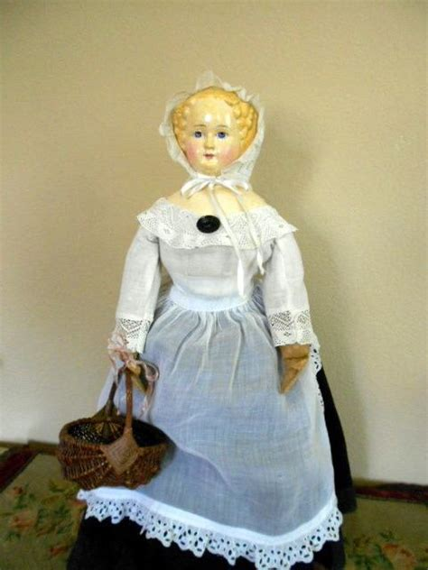 Paper Mache Doll - beautiful german paper mache doll 1870 from ladysylvia on