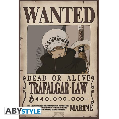 membuat poster wanted one piece one piece poster wanted trafalgar law 52x35cm abystyle