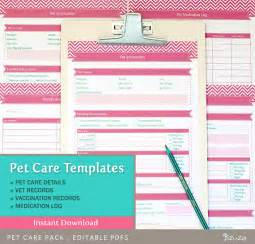 pet health record template pet care records templates editable pdf files for a4 and