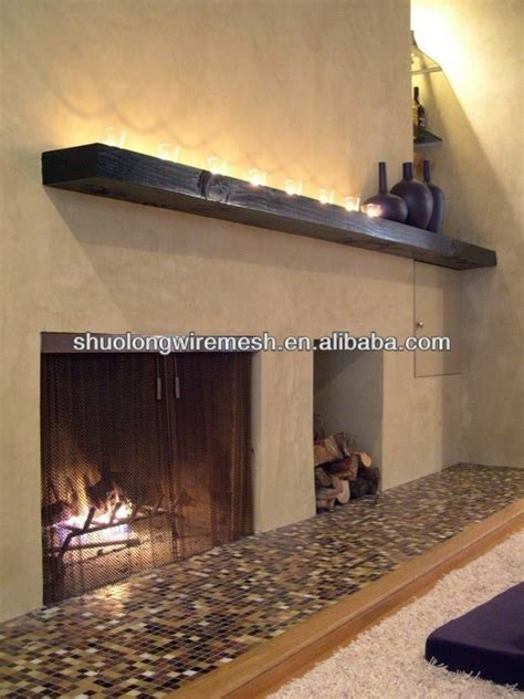 black fireplace replacement screen mesh fireplace wire