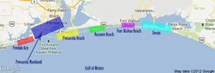 florida northwest coast map map of nw fl pictures to pin on pinsdaddy