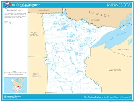 minnesota state map with lakes images