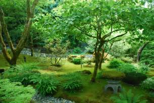 peaceful japanese garden travel wallpaper and stock photo
