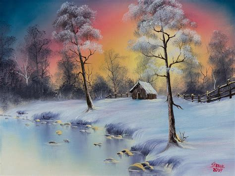 bob ross paintings sold winter s grace painting by c