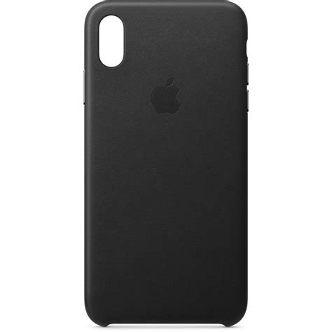 apple iphone xs max leather case black mrwtzma bh photo