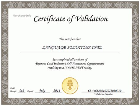 validation certificate template sle form best free home design idea inspiration