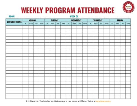 Daycare Sign In Sheet Template Weekly Preschool Sign In And Out Sheet Template