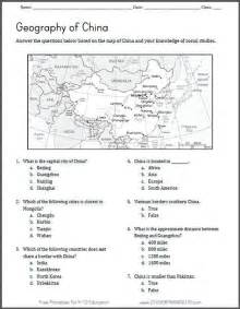 map activities for us geography classes map of china geography worksheet student handouts