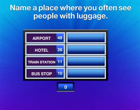 A Place You Often Visit Name A Place Where You Often See With Luggage Family Feud Guide Family Feud Guide