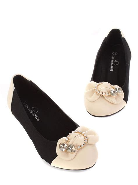 wholesale flat shoes for wholesale color matching bow rhinestone design flat shoes