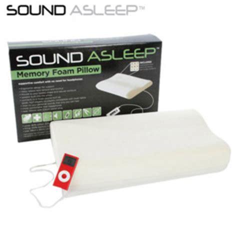 Soundasleep Pillow by Sound Asleep Memory Foam Pillow Speaker