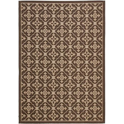 Safavieh Outdoor Rugs Safavieh Courtyard Chocolate 4 Ft X 5 Ft 7 In Indoor Outdoor Area Rug Cy6564 204 4