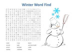 Winter word search puzzle to print and play pictures to pin on