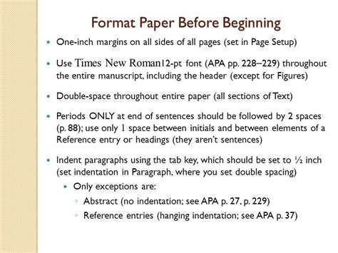 apa format indent paragraphs technical writing getting started in apa style ppt