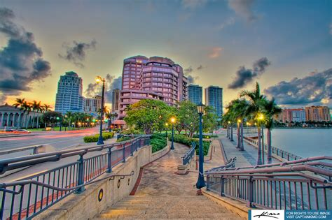 west palm city buildings during sunset