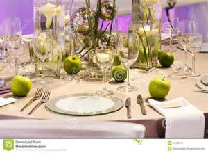 beautiful table settings green and brown elegant table set in green and white for wedding or event party stock images image 37186374