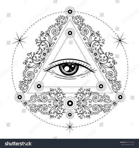 sacred geometry symbol all seeing eye stock vector sacred geometry symbol all seeing eye stock vector 431161630