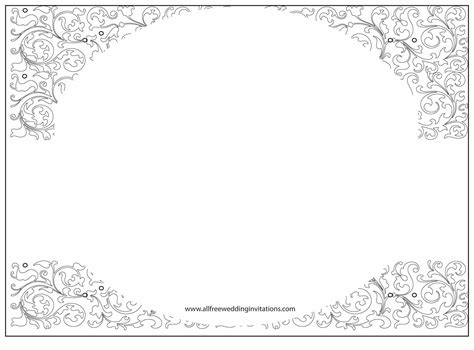 blank black and white wedding invitations templates