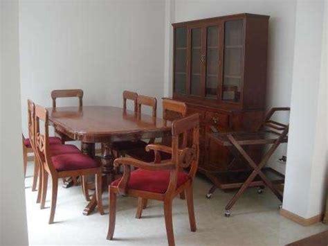 fotos de juego de comedor de cedro vitrina lima muebles