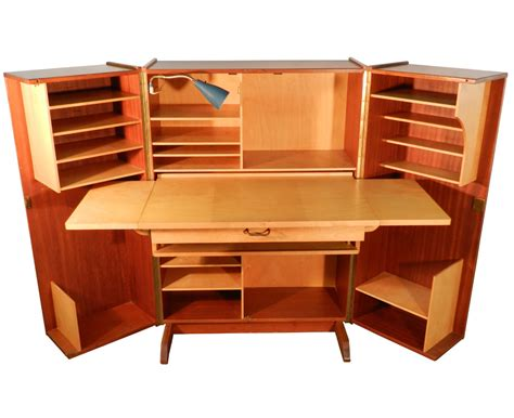 home office desk with storage teak and sycamore compact home office desk and storage