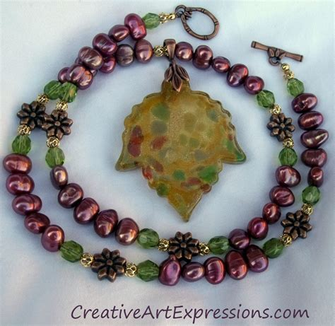 Creative Handmade Jewelry - creative expressions handmade autumn leaf necklace