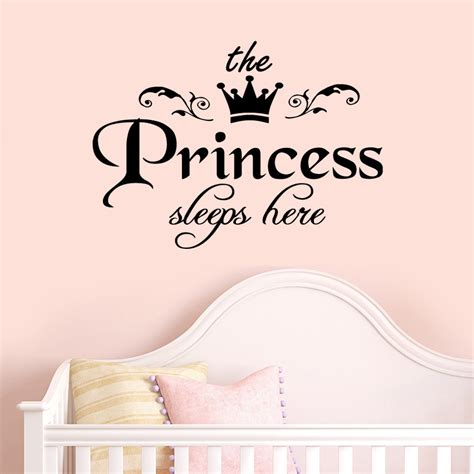 baby quote wall stickers princess sleeps baby quote wall stickers