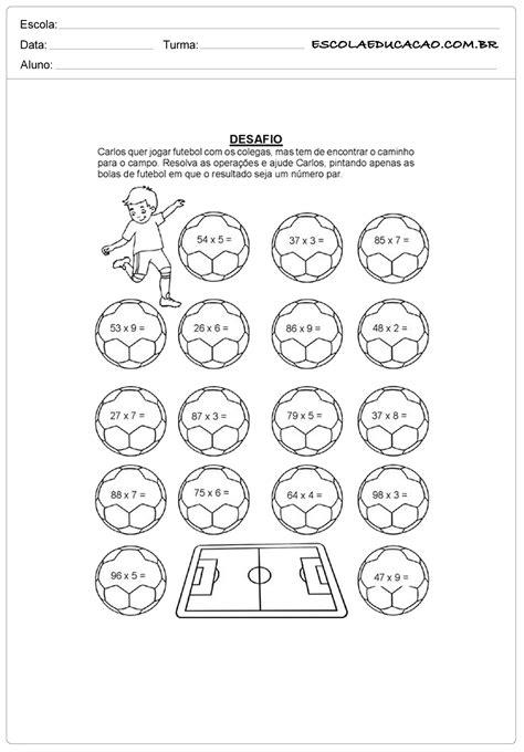 Atividades sobre a copa do mundo para imprimir desafio