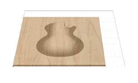 les paul top carving template les paul top carve in easel luthier inventables